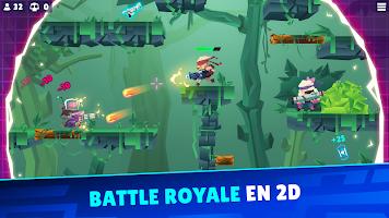 Screenshot 1: Bullet League - BATTLE ROYALE EN 2D