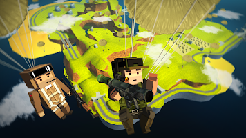 Screenshot 1: Blocky Army Battle Royale - Toon Multiplayer Game