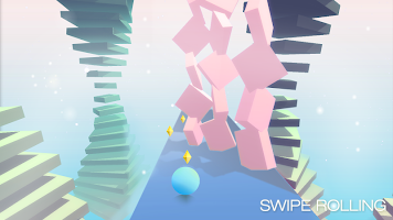 Screenshot 3: Swipe Rolling - Roll the ball in modern art