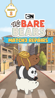Screenshot 1: We Bare Bears Match3 Repairs