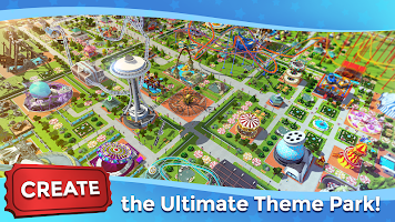 Screenshot 1: RollerCoaster Tycoon Touch - Build your Theme Park