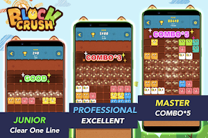 Screenshot 1: Block Crush™ - Cute Kitty Puzzle Game