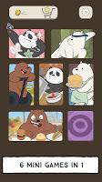 Screenshot 1: We Bare Bears - Free Fur All: Mini Game Arcade