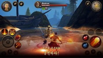 Screenshot 3: 마을 주민과 영웅