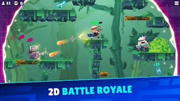 Screenshot 1: Bullet League - 2D Battle Royale