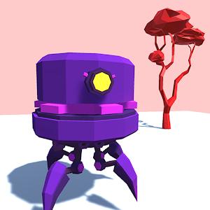 Icon: Peep - minimalist beautiful scifi robot platformer