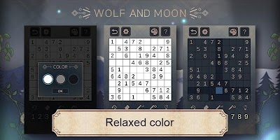 Screenshot 3: Wolf And Moon : Sudoku