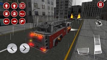 Screenshot 2: Real Fire Truck Driving Simulator: Fire Fighting