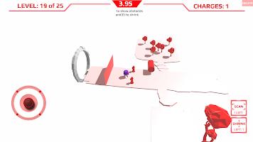 Screenshot 1: Peep - minimalist beautiful scifi robot platformer