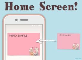 Screenshot 1: 메모장Home screen Memo Obediently tell