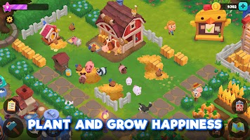 Screenshot 1: WeFarm: Build a Town & Explore
