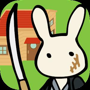 Icon: 兎ファミリー 赤い屋根のおうち。マンガが進む育成ゲーム