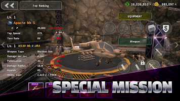 Screenshot 3: GUNSHIP BATTLE:直升機 3D Action