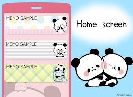 Screenshot 1: Sticky Note Mochimochi Panda