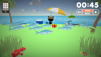 Screenshot 1: 釣りにゃんこ物語