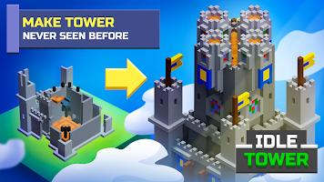 Screenshot 1: TapTower - 放置塔樓建造器