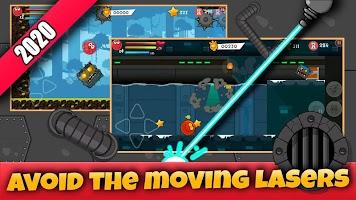 Screenshot 1: Red Hero 4:Bounce Ball Adventure
