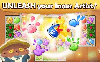 Screenshot 2: Cats Atelier -  A Meow Match 3 Game