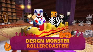 Screenshot 2: Scary Theme Park Craft: Spooky Horror Zombie Games