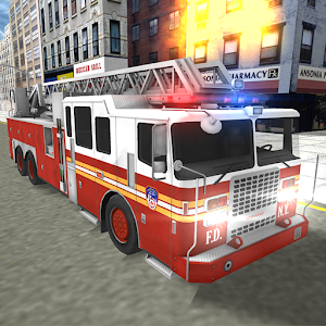 Icon: Real Fire Truck Driving Simulator: Fire Fighting
