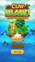Screenshot 1: Clay Island - 생존 게임