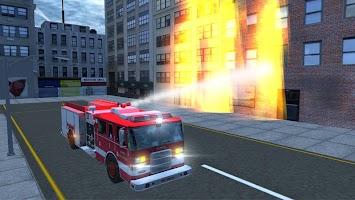 Screenshot 3: Real Fire Truck Driving Simulator: Fire Fighting