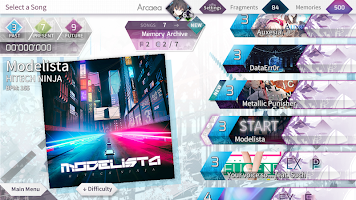 Screenshot 3: Arcaea