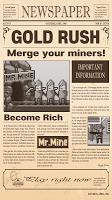 Screenshot 1: MergeMine : GoldRush