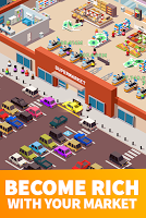 Screenshot 2: Idle Supermarket Tycoon - Tiny Shop Game
