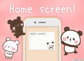 Screenshot 1: 메모장 모찌모찌 팬더
