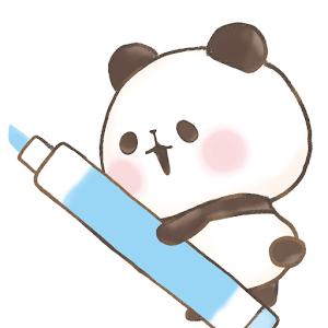 Icon: 可愛麻糬熊貓 記事本小工具