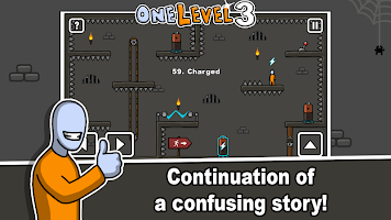 Screenshot 1: One Level :火柴人越獄3