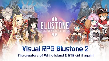 Screenshot 2: Blustone 2 - Anime Battle and ARPG Clicker Game