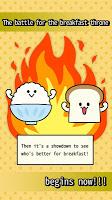 Screenshot 1: Breakfast Showdown!  Rice vs Bread