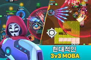 Screenshot 1: Heroes' Strike - 3v3 Moba Brawl Shooter