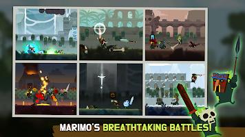 Screenshot 1: Marimo League : Be God, show Miracles on battles!