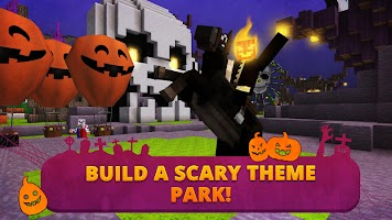 Screenshot 1: Scary Theme Park Craft: Spooky Horror Zombie Games