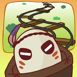 Icon: トロッコアドベンチャー。 レールを繋げる無料パズルゲーム