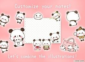 Screenshot 2: 可愛麻糬熊貓 記事本小工具