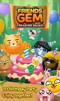 Screenshot 1: Friends Gem Treasure Squad! : Match 3 Free Puzzle