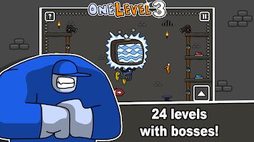 Screenshot 3: One Level :火柴人越獄3