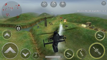 Screenshot 2: GUNSHIP BATTLE:直升機 3D Action