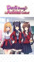 Screenshot 1: Devil Beauty & Animal Cuties! Anime Dating Sim