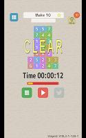 Screenshot 1: なぞってたしてけすパズル タシテケス 【脳トレ、足し算、10、15、20】