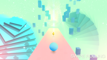 Screenshot 2: Swipe Rolling - Roll the ball in modern art