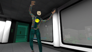 Screenshot 1: Smiling-X Corp: Escape from the Horror Studio