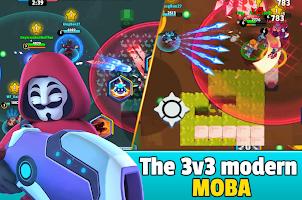 Screenshot 1: Heroes Strike - 3v3 Moba Brawl Shooting