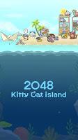 Screenshot 1: 2048 고양이 섬
