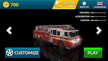 Screenshot 4: Real Fire Truck Driving Simulator: Fire Fighting