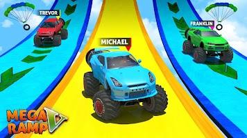 Screenshot 1: Mega Ramp V - Car Stunts